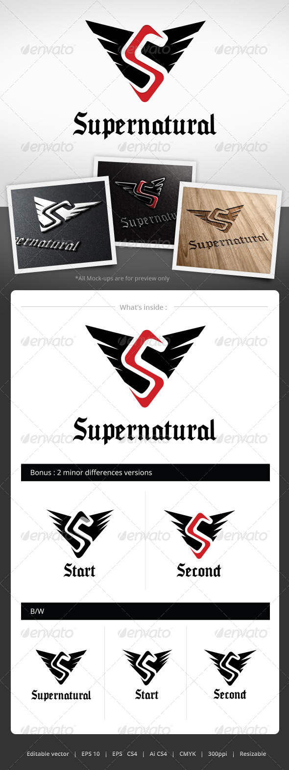 Supernatural Logo Template - Letters Logo Templates