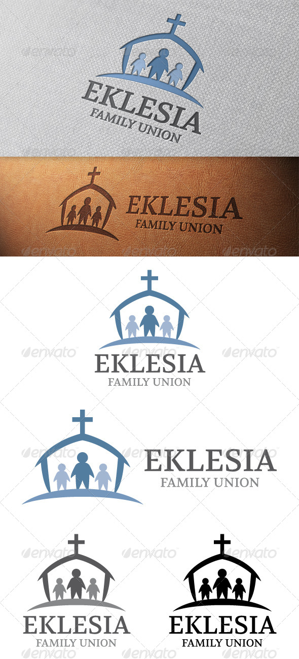 Family Church Logo Template - Humans Logo Templates