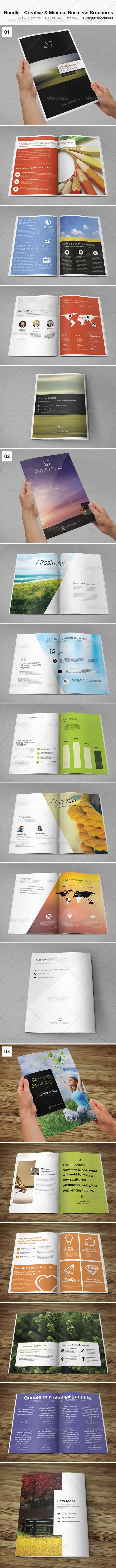 Bundle - Creative & Minimal Business Brochures  - Corporate Brochures