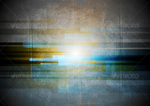Abstract Grunge Hi-Tech Design - Backgrounds Decorative