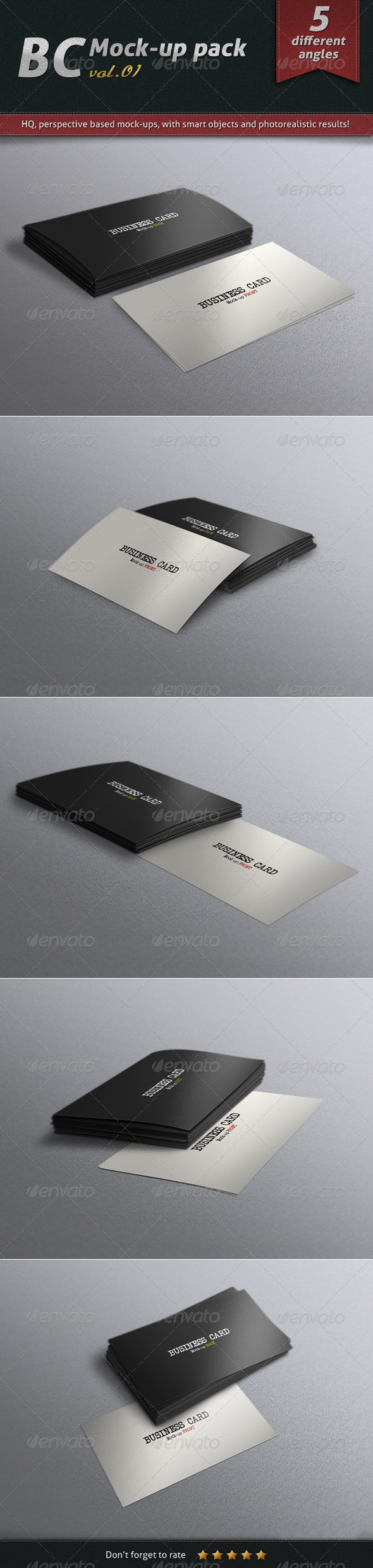 Business Card Mock-up Pack Vol.01 - Business Cards Print