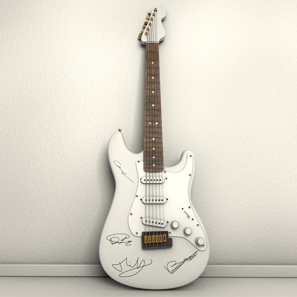 Autographed Electric Guitar - 3DOcean Item for Sale