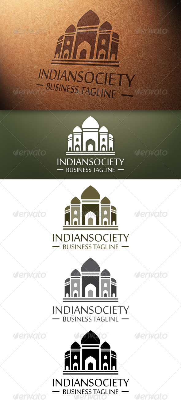 Indian Society Logo Template - Buildings Logo Templates