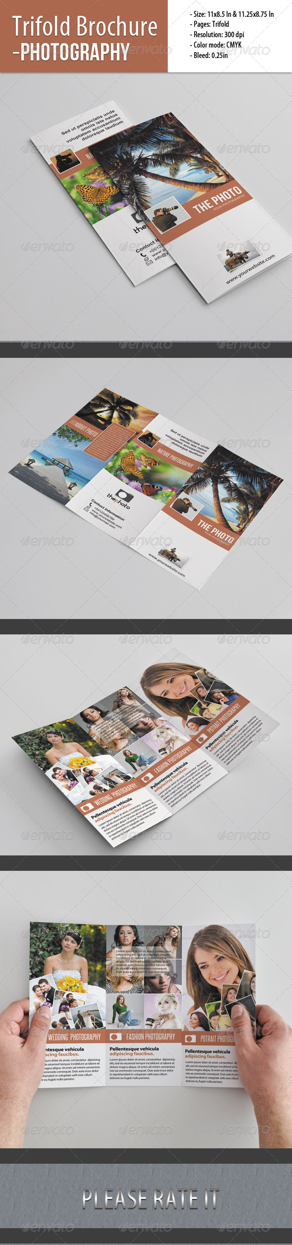 Trifold Brochure For Photography - Portfolio Brochures