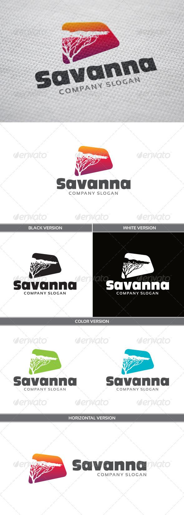 Savanna Logo - Nature Logo Templates