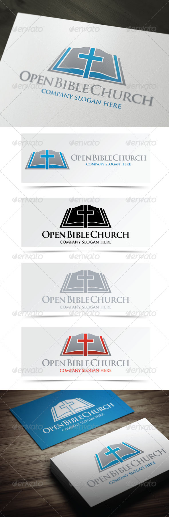 Open Bible Church - Objects Logo Templates