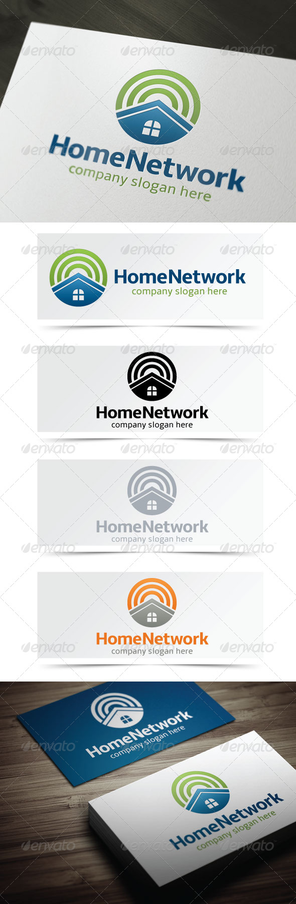 Home Network - Objects Logo Templates