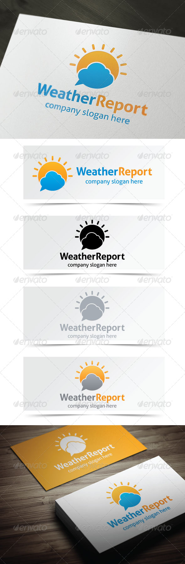 Weather Report - Nature Logo Templates