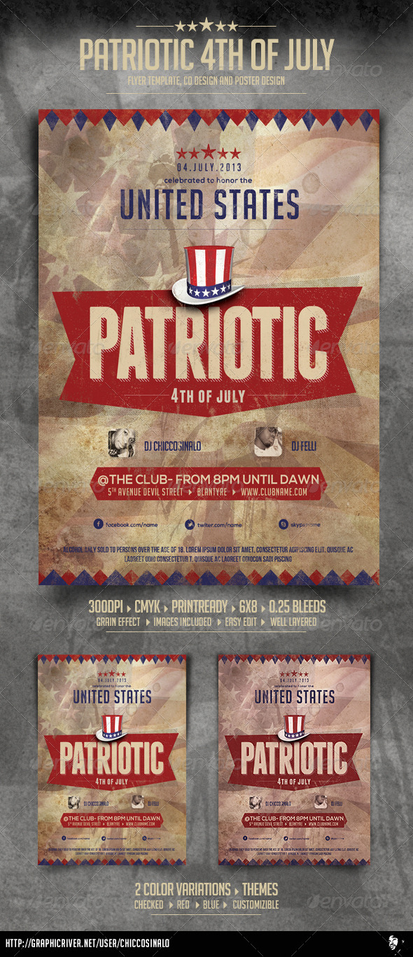 Patriotic 4th of July Flyer - Events Flyers