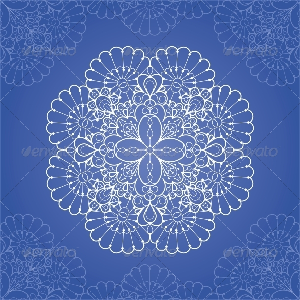 Ornamental Round Lace Pattern - Patterns Decorative