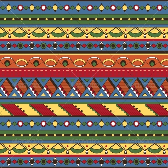 Seamless Ethnic Background - Patterns Decorative