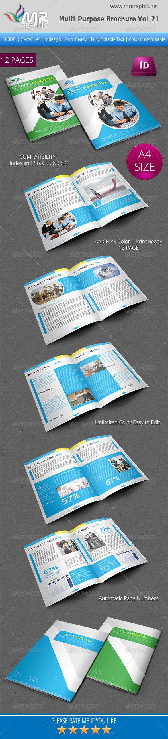 Multipurpose Business Brochure Template Vol-21 - Corporate Brochures