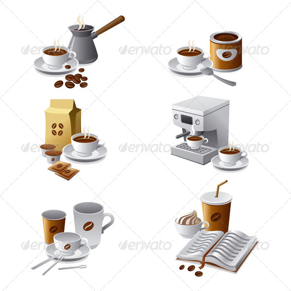 Coffee Icon Set - Icons