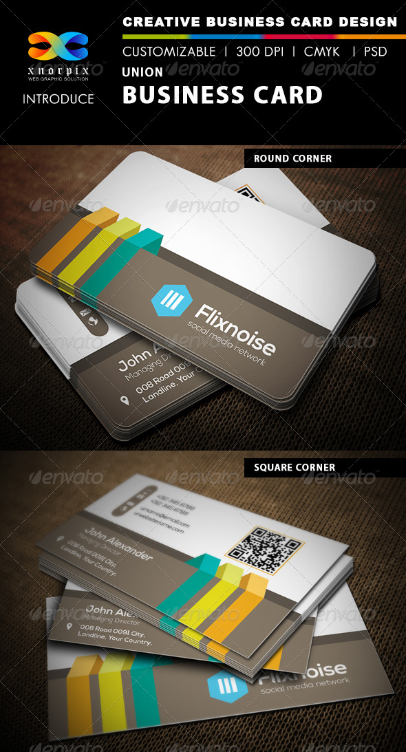 Union Business Card by -axnorpix | GraphicRiver