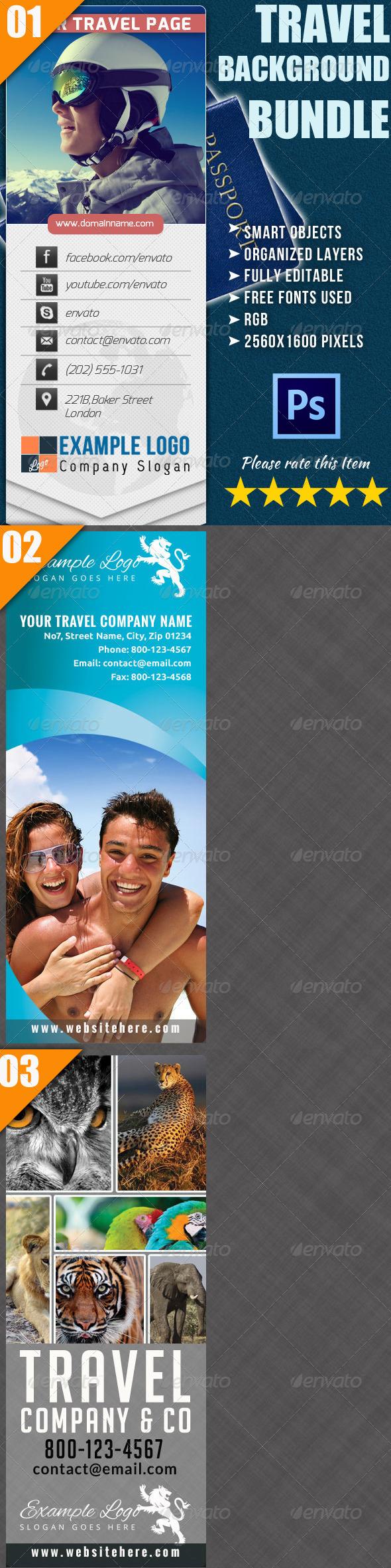 Travel Twitter Background Bundle - Twitter Social Media