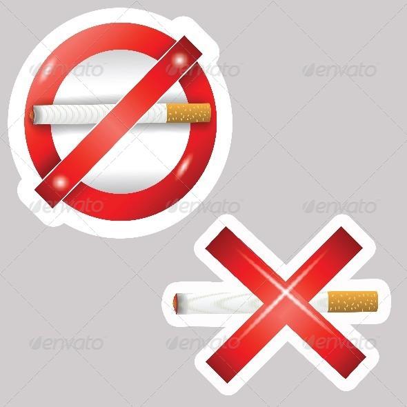 Burning Cigarettes - Health/Medicine Conceptual