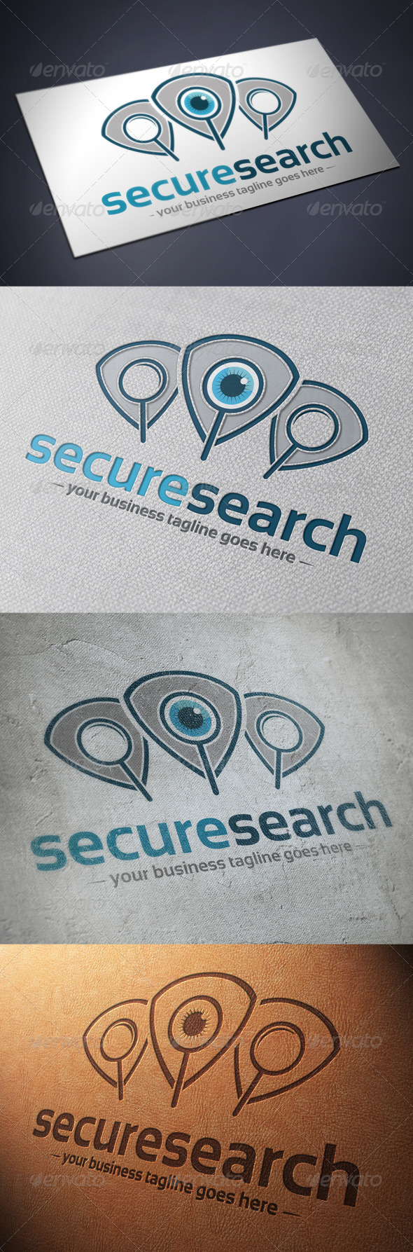 Security Search Logo Template - Humans Logo Templates