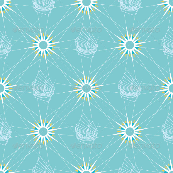 Seamless Sailing Pattern - Backgrounds Decorative