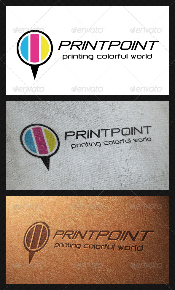 Print Point Logo Template - Vector Abstract