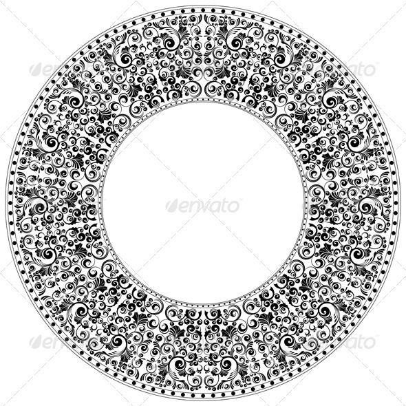 Round ornament - Backgrounds Decorative