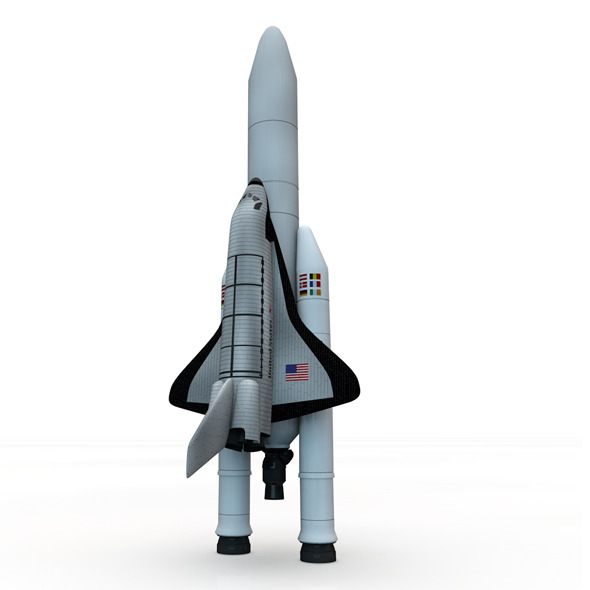 Space Shuttle with Launch Rockets - 3DOcean Item for Sale