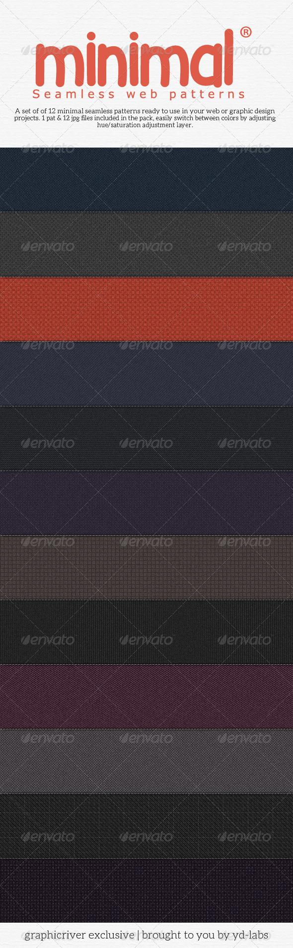 Minimal Seamless Web Patterns Pack 1 - Patterns Backgrounds