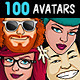 100 Guys & Girls Avatars - GraphicRiver Item for Sale