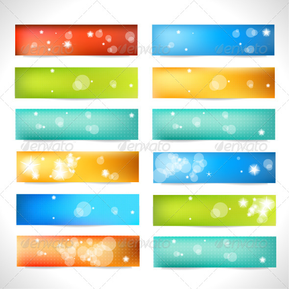 Set of Color Banner - Web Elements Vectors