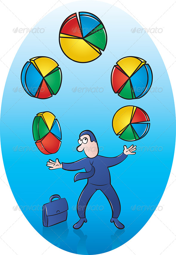Pie Chart Juggler - Concepts Business