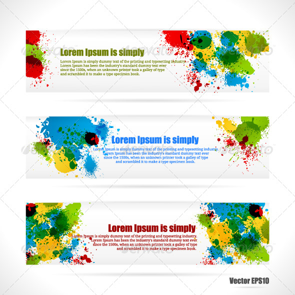 Color web Banners - Backgrounds Business