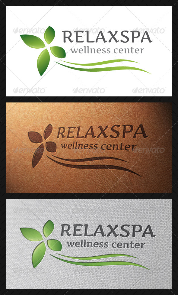 Relax Spa Logo Template - Nature Logo Templates