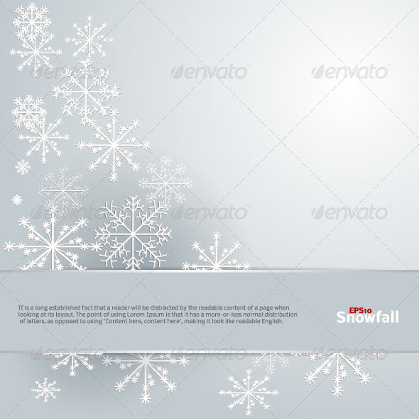 Snowfall Background - Backgrounds Decorative