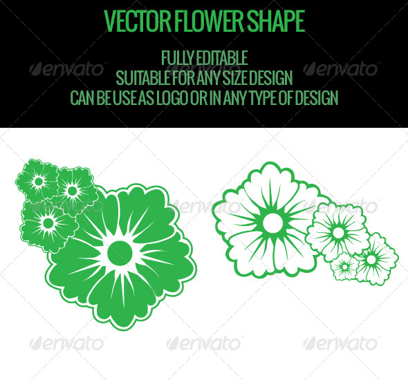 Vector Flower Shape - Flourishes / Swirls Decorative