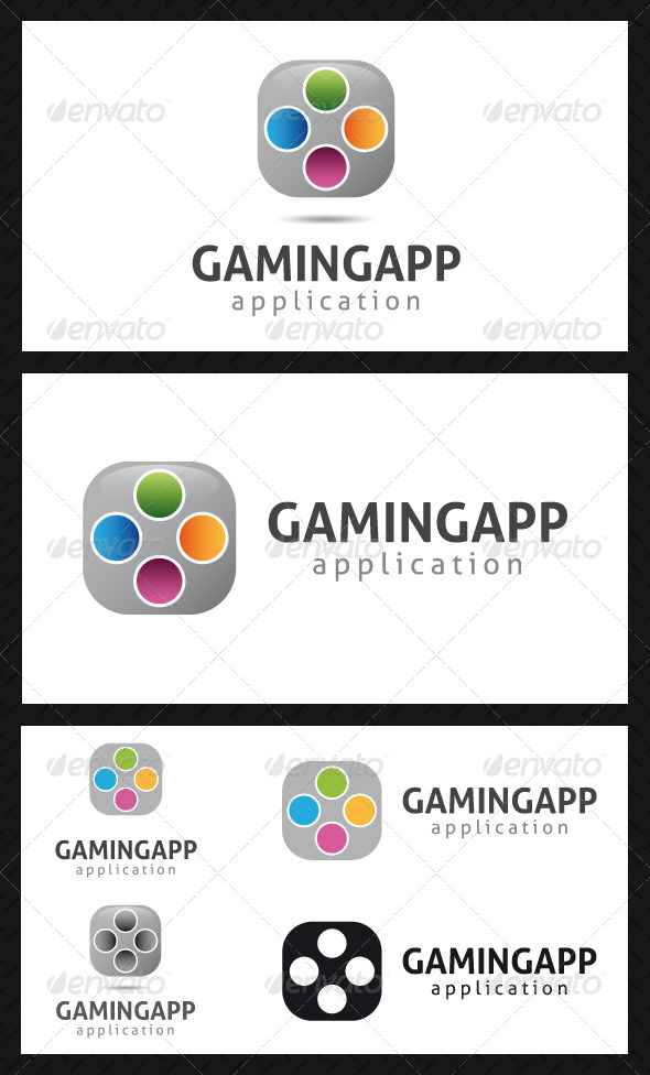 Gaming App Logo Template - Objects Logo Templates