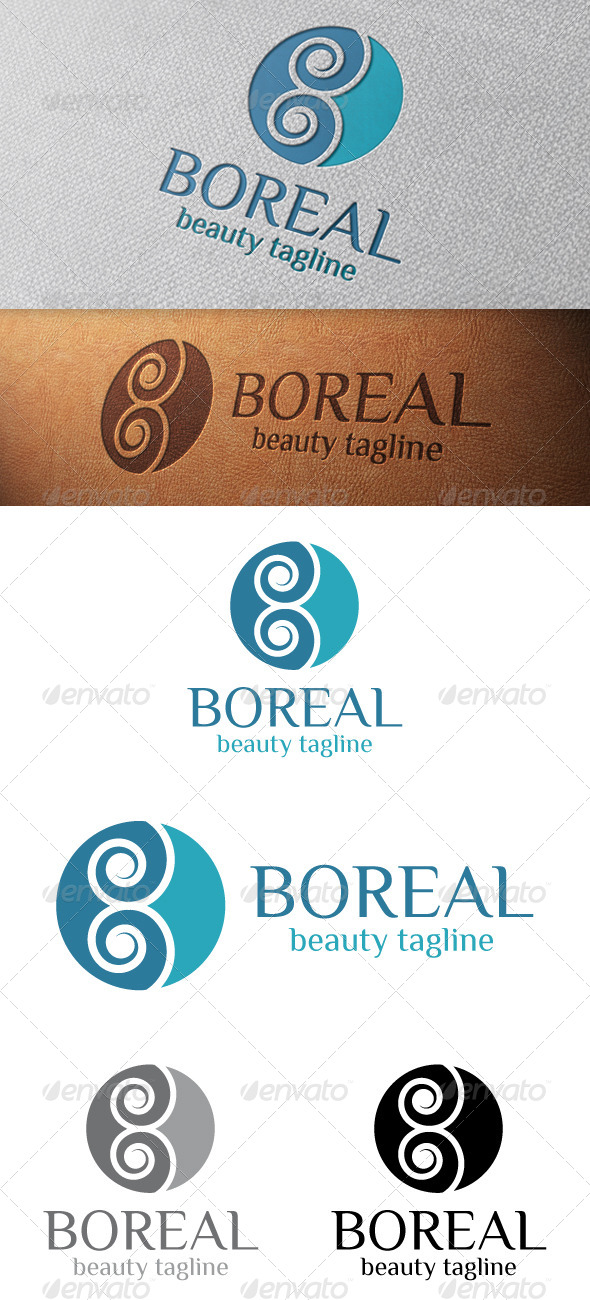 Boreal Abstract Logo Template - Vector Abstract