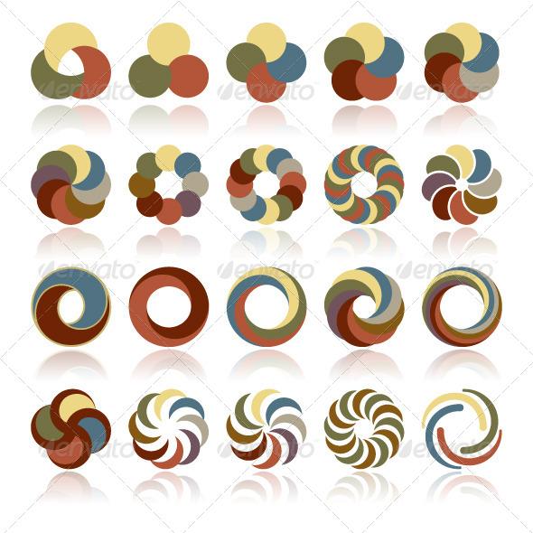 Abstract Circular Design Elements - Miscellaneous Vectors