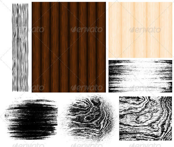 Wood collection - Backgrounds Decorative