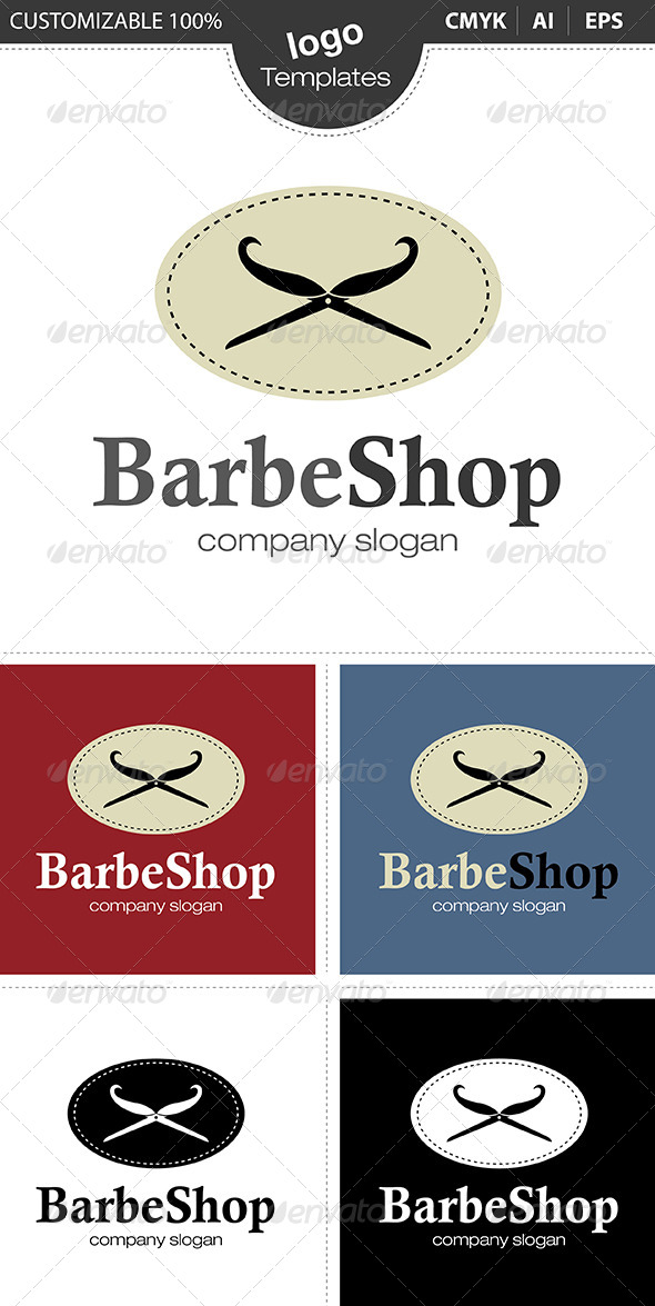 Barbe Shop Logo - Abstract Logo Templates