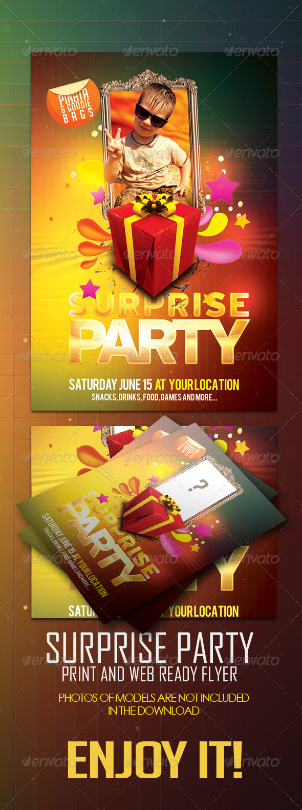 Surprise Party Invitation Post Card - Events Flyers