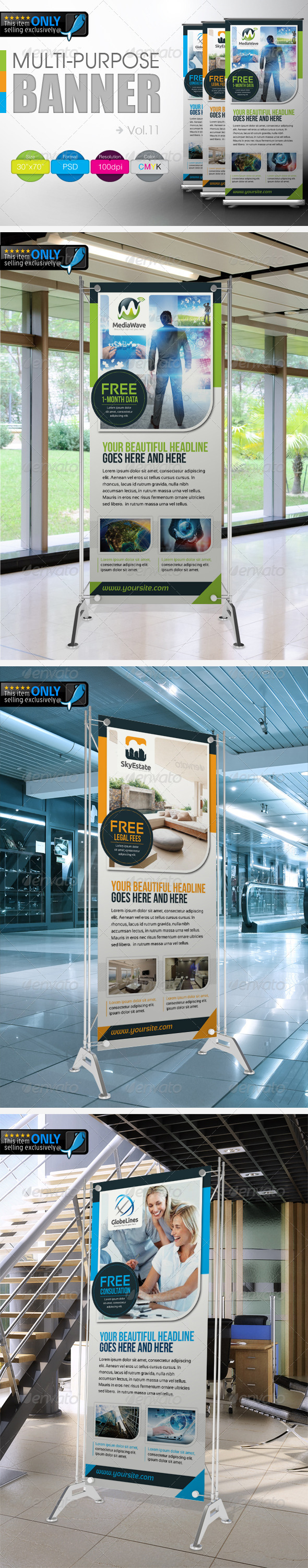 Multipurpose Banner Vol.11 - Signage Print Templates