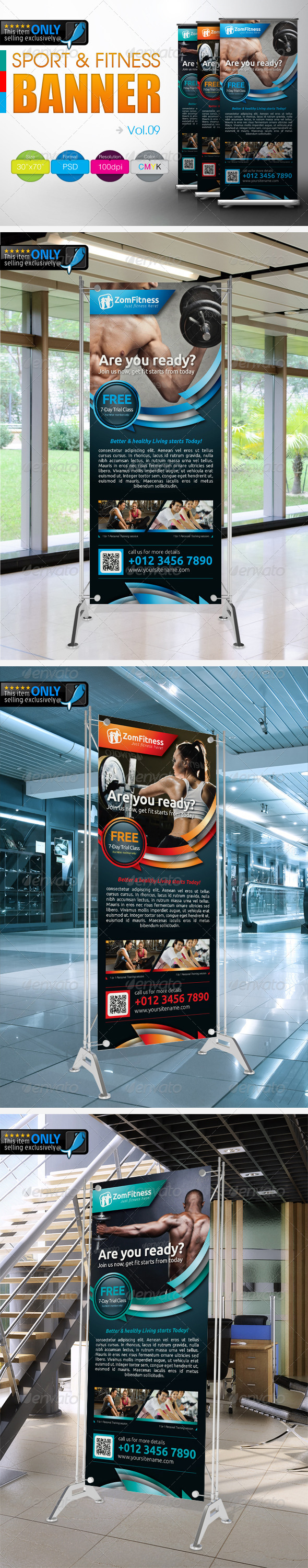Fitness Banner Vol.9 - Signage Print Templates