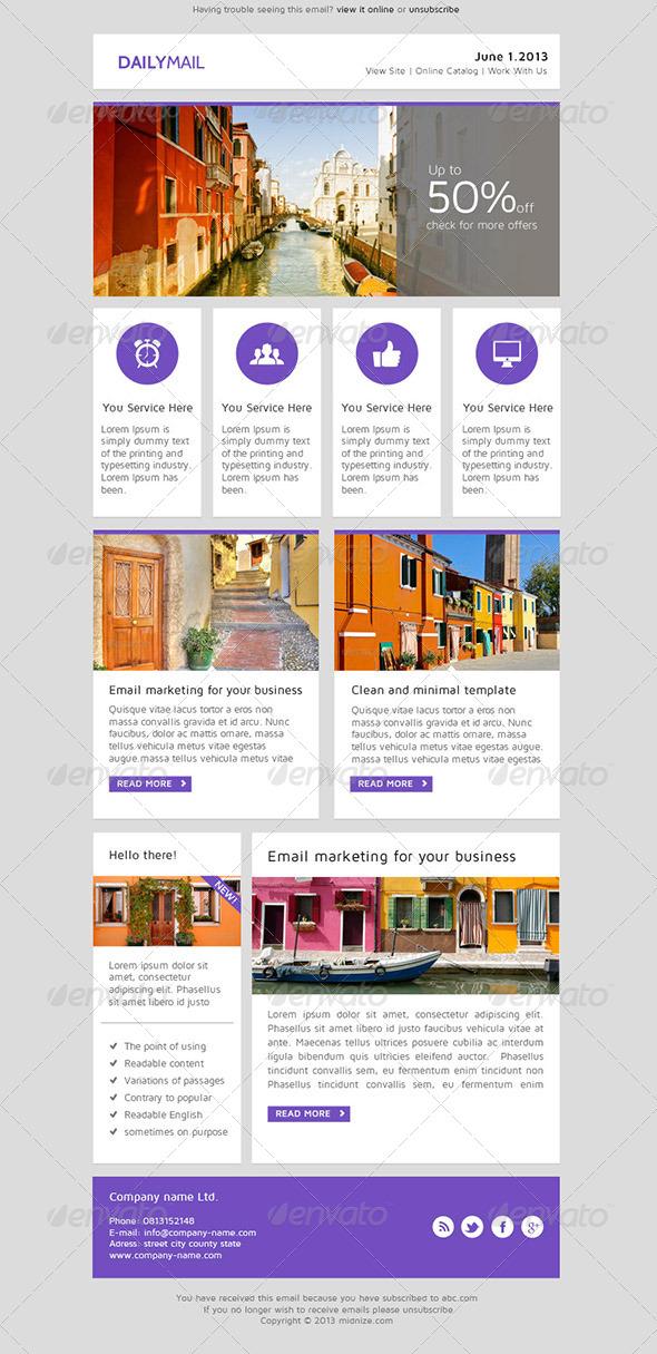 Daily Mail Clean Psd Email Newsletter Template By