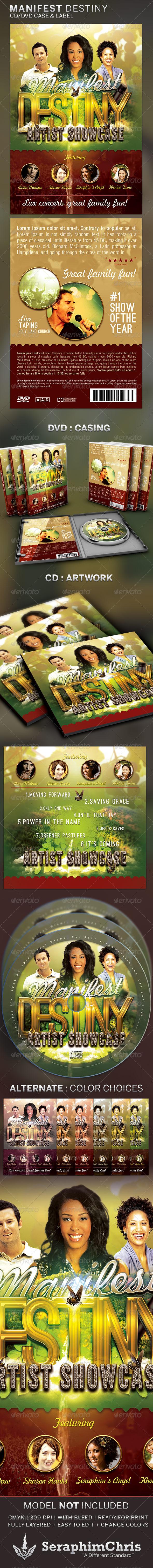 Manifest Destiny: CD/DVD Template - CD & DVD Artwork Print Templates