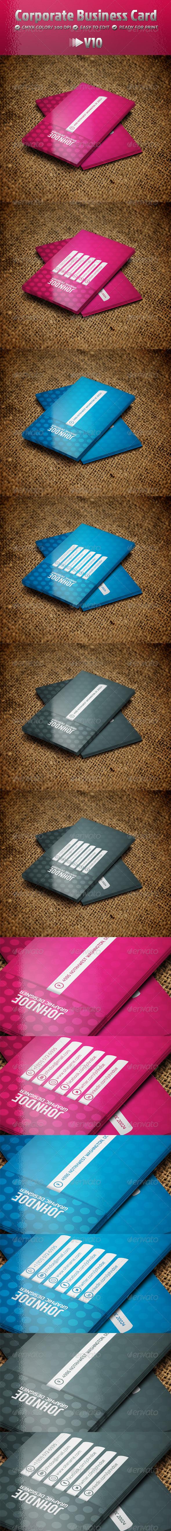 Corporate Business Card V10 - Corporate Business Cards