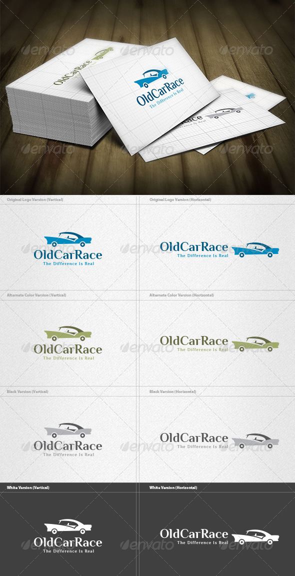 Old Car Race Logo - Objects Logo Templates