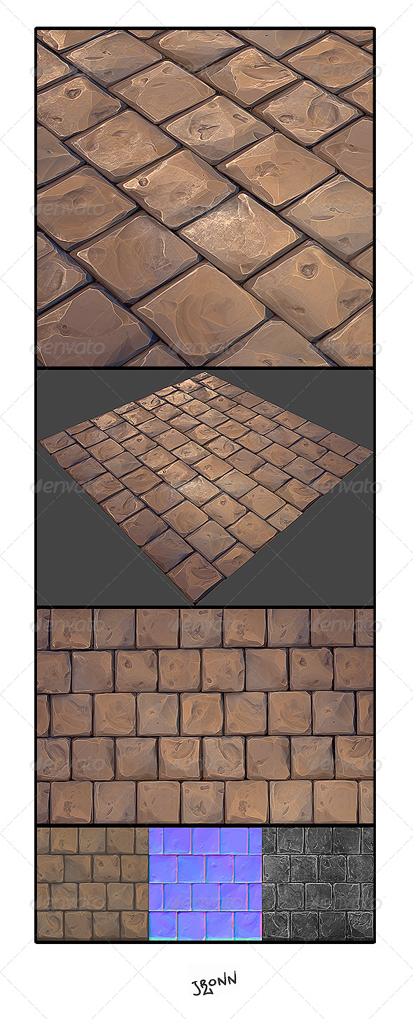 Stone Floor 01 - 3DOcean Item for Sale
