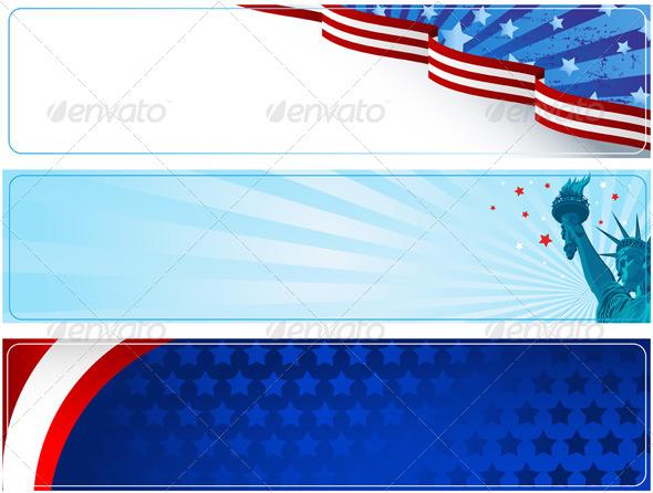 Patriotic Banners - Seasons/Holidays Conceptual