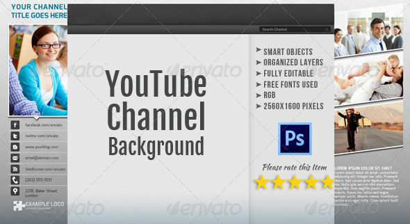 Corporate YouTube Channel Background Template - YouTube Social Media