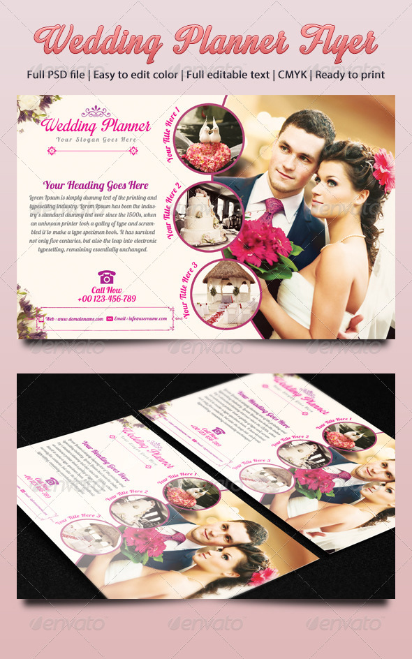 Wedding Planner Flyer by azadcsstune | GraphicRiver