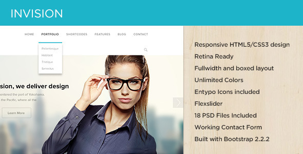 INVISION Corporate Site Template